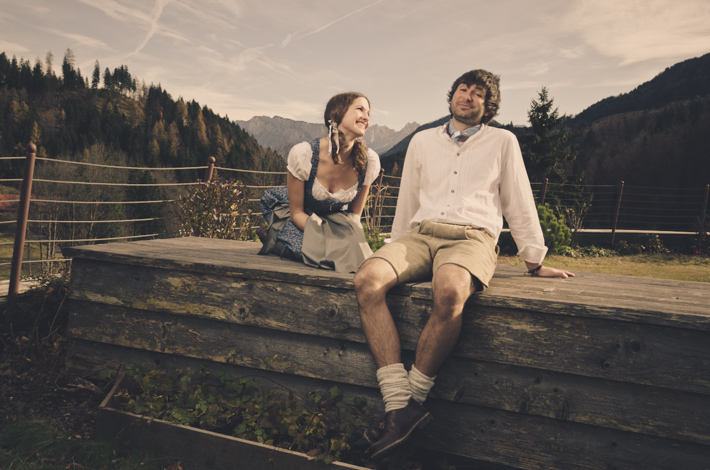 Engagementshooting Motto: Alter Heimatfilm