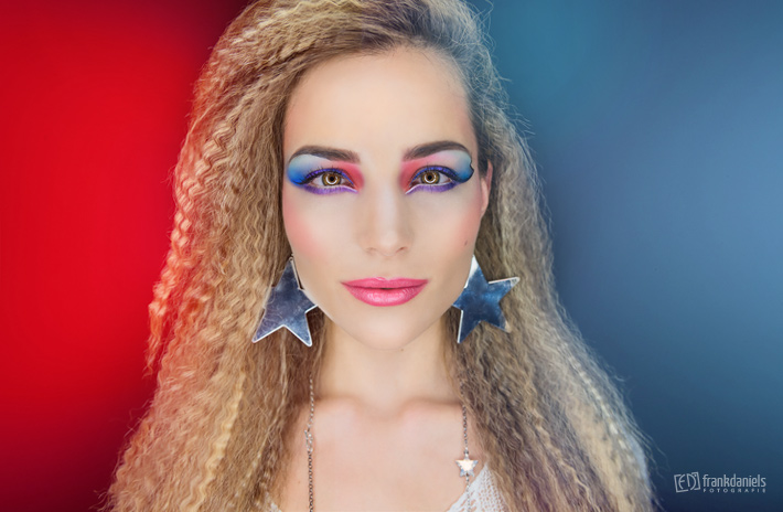 80´s Extreme-Make-Up mit Viktoria