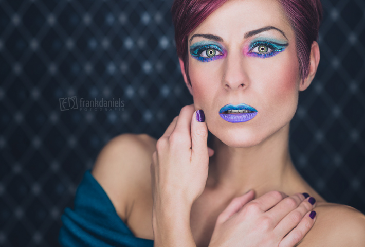 Ringlicht Foto mit Extreme Make-Up Andrea